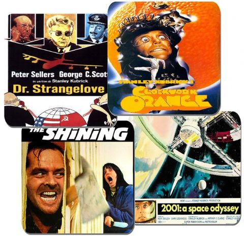 Stanley Kubrick Movie Poster Coasters Set Of 4. High Quality Cork. Dr Strangelove
